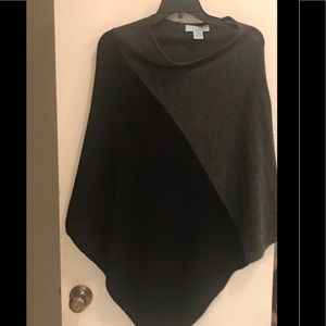 Wool & Cashmere Poncho Sweater